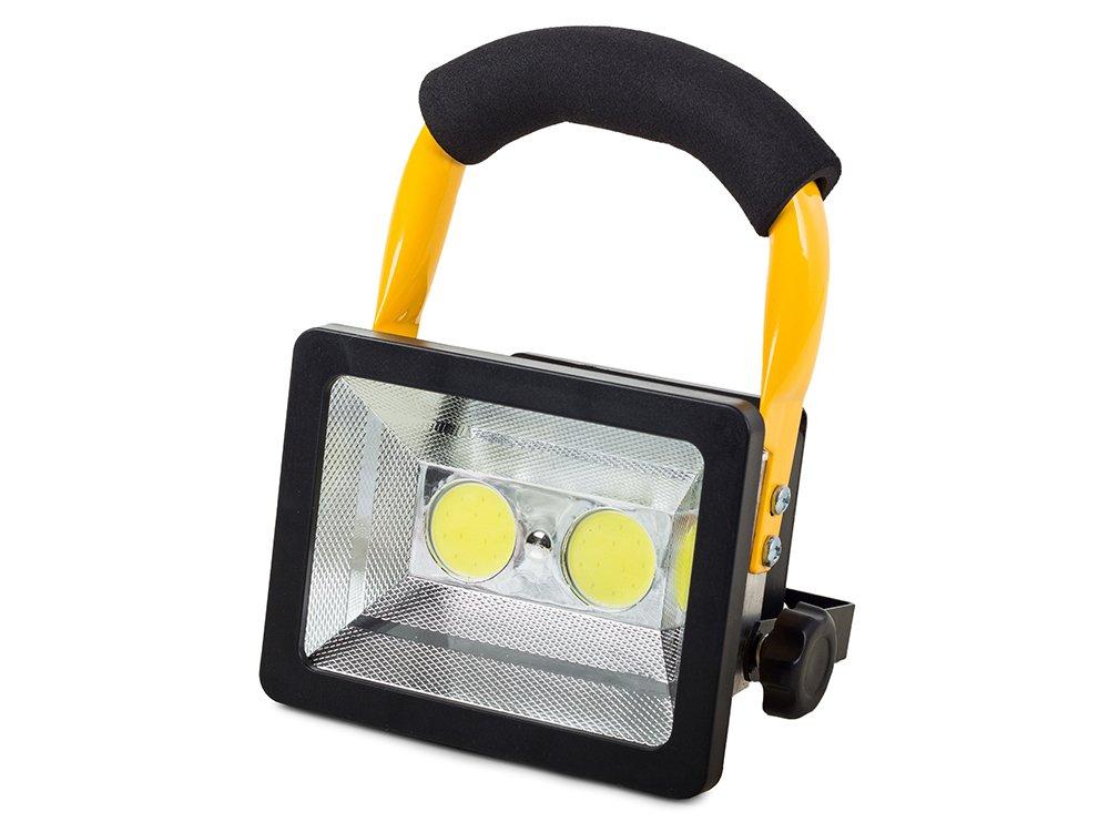 Halogen Lampa Przenośny 2 X Led Cob 30w Akumulator